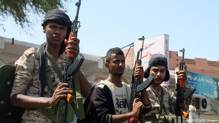 Fighters in Aden, Yemen