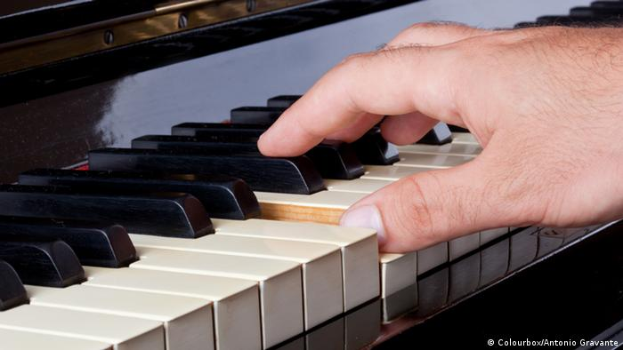 Finger spielen Klavier