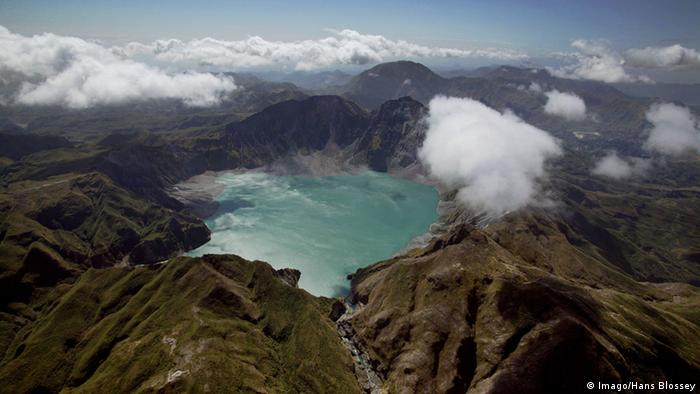 Mount Pinatubo seen from above