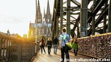Blick auf den Kölner Dom und die Hohenzollernbrücke. Foto vom 23 September 2013.