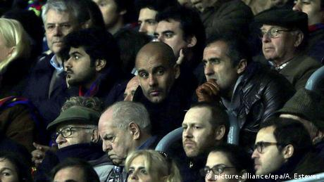 Champions League Josep Guardiola Zuschauer bei Barcelona vs Manchester City