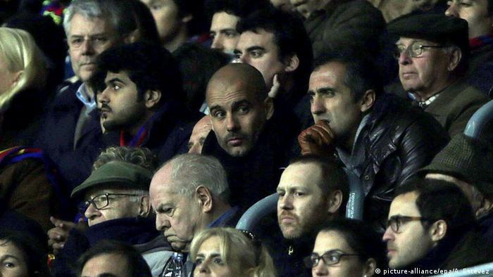 Champions League Josep Guardiola Zuschauer bei Barcelona vs Manchester City