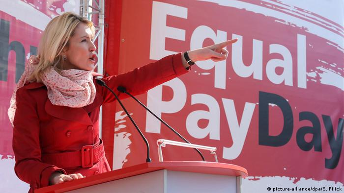 Equal Pay Day-Aktion in Berlin