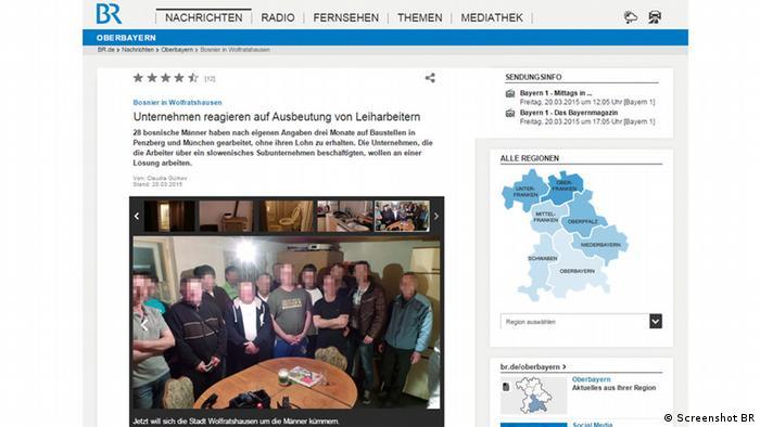 O slučaju radnika iz izvještavala je i bavarska televizija BR