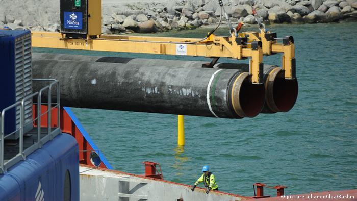 Прокладка газопровода в Балтийском море