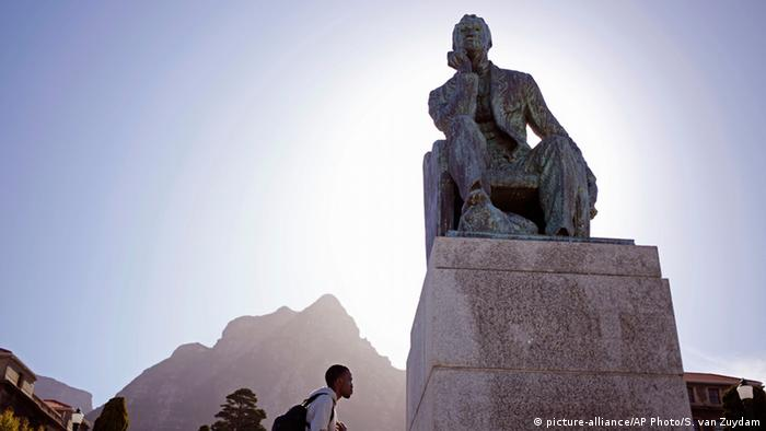 Statue of Cecil John Rhodes at the University of Cape Town