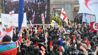 Proteste in Georgien Oppositions-Demo Micheil Saakashvili