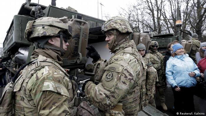 Soldiers of the U.S. Army 2nd Cavalry Regiment deployed in Estonia