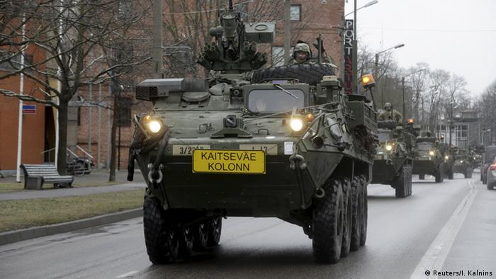Estland NATO US Truppenabzug zum Stützpunkt in Vilseck