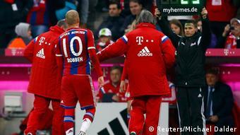 Fußball Bundesliga 26. Spieltag Bayern München gegen Borussia Mönchengladbach