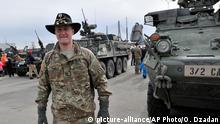 Lettland NATO US Truppenabzug zum Stützpunkt in Vilseck