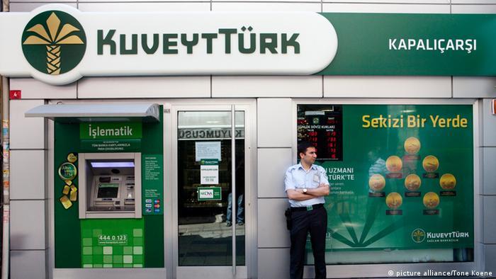 Türkei Istanbul Filiale der Kuveyt Türk Bank