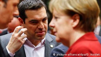 Belgien Merkel und Tsipras beim EU-Gipfel