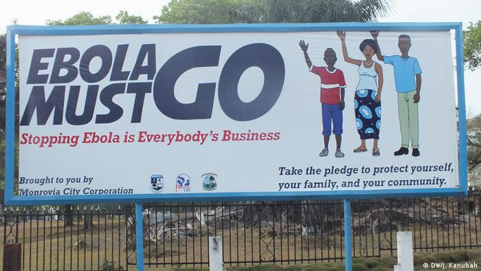 Ebola billboard in Liberia