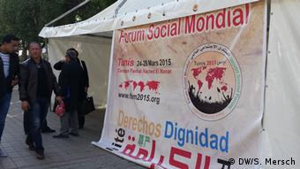Tunis Weltsozialforum Infostand