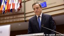 Mario Draghi vor dem Wirtschafts- und Währungsausschuss