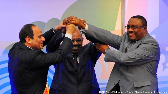 Ägyptens Al-Sisi, Äthiopiens Desalegn und Sudans al-Baschir (Foto: AP)