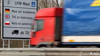 Lkw-Maut Lkw auf Autobahn
