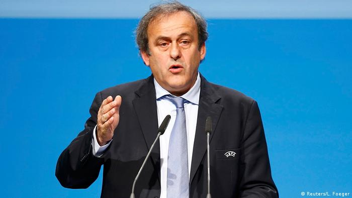 Michel Platini vor dem UEFA-Kongress in Wien. Foto: Reuters