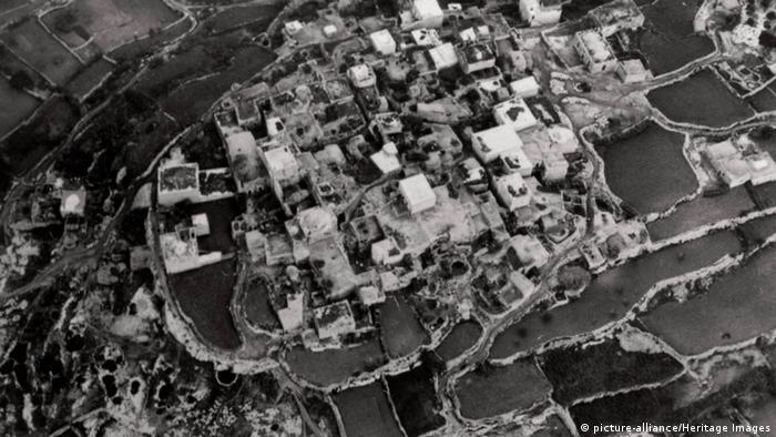 Иерусалим в 1931 году. Фотография с дирижабля