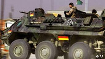 A Bundeswehr armed vehicle in Afghanistan