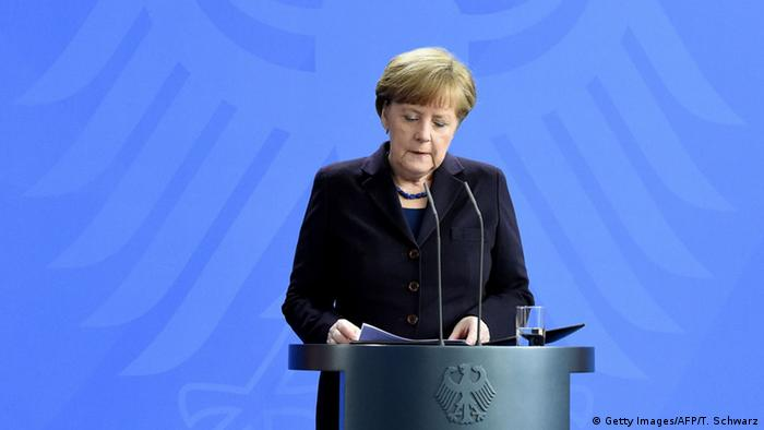 Berlin Germanwings Flugzeugabsturz Statement Merkel