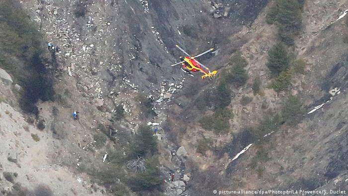 Germanwings 4U9525 Flugzeugabsturz Rettungsaktion in den französischen Alpen