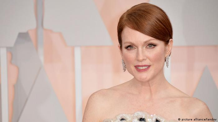 Julianne Moore arrives on the red carpet at the 87th Academy Awards at the Hollywood & Highland Center in Los Angeles on February 22, 2015