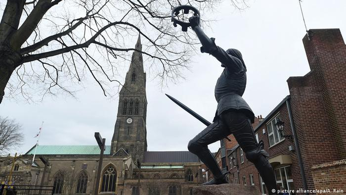England Leicester Statue Richard III Kathedrale
