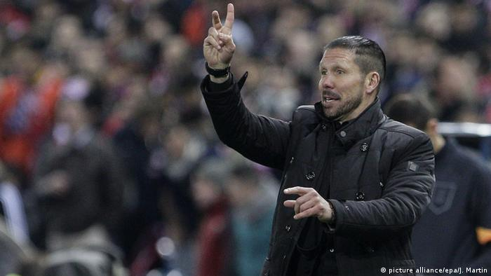 Madrid Diego Simeone bei Atletico vs Leverkusen (picture alliance/epa/J. Martin)