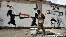 Jemen Graffiti Einfluss Iran Saudi Arabien Konflikt