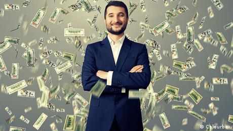 man with raining money (Colourbox)