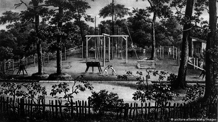 Спортивная площадка в берлинском парке Хазенхайде, заложенная Отцом Яном в 1811 году