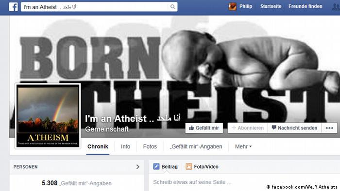 Screenshot Facebook I'm an Atheist (facebook.com/We.R.Atheists)