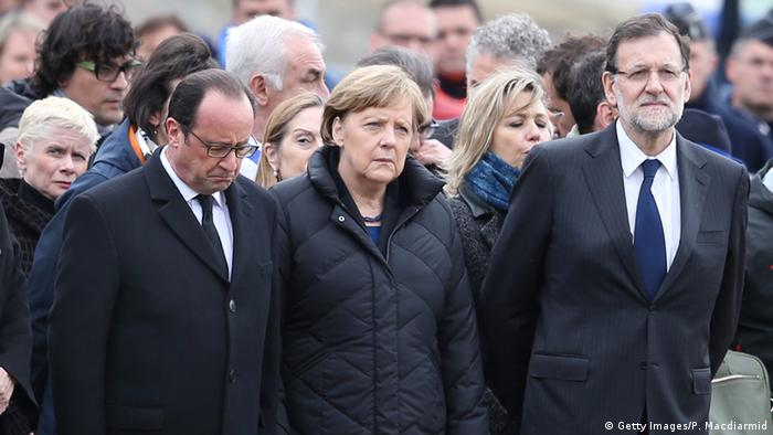 Frankreich Seyne les Alpes Absturz Germanwings A320 Merkel Hollande Rajoy