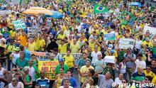 Brasilien Demonstration in Rio de Janeiro gegen die Regierung von Dilma Rousseff
