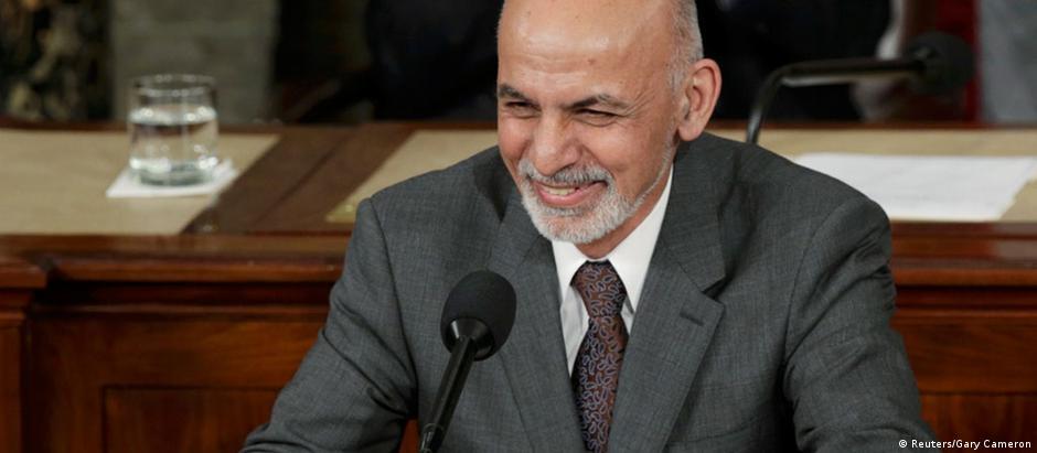 Presidente Ashraf Ghani no Congresso americano