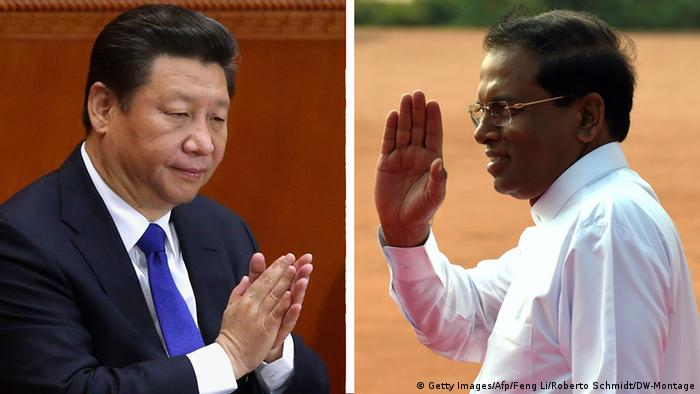 Montage - Xi Jinping und Maithripala Sirisena