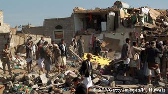یکی از نقاطی که در صنعا هدف حمله هواپیماهای عربستان و متحدان آن قرار گرفته است