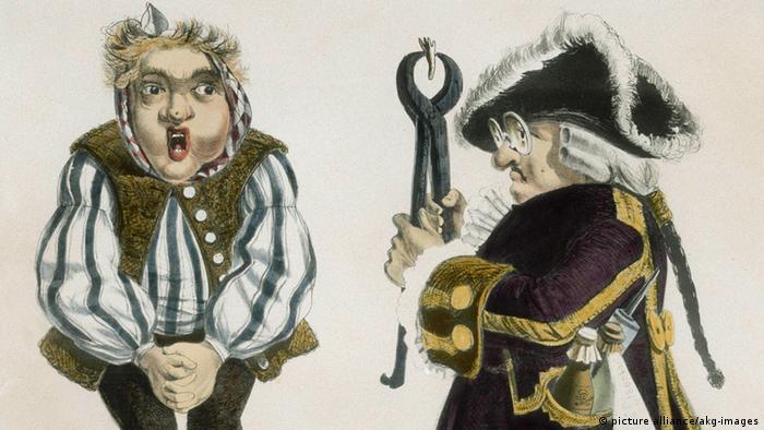 Доктор Айзенбарт. Карикатура 1840 года