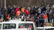 Frankreich Le Vernet, Unglücksstelle Germanwings Ankunft Angehörige
