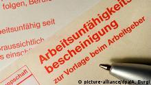 Deutschland Krankschreibung Attest