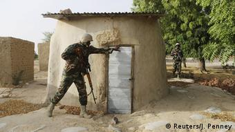 A Nigerian soldier in combat operations against Boko Haram in Diffa