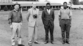 Staff of the DW relay station in Kigali, Rwanda