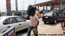 Nigeria Tankstelle in Lagos