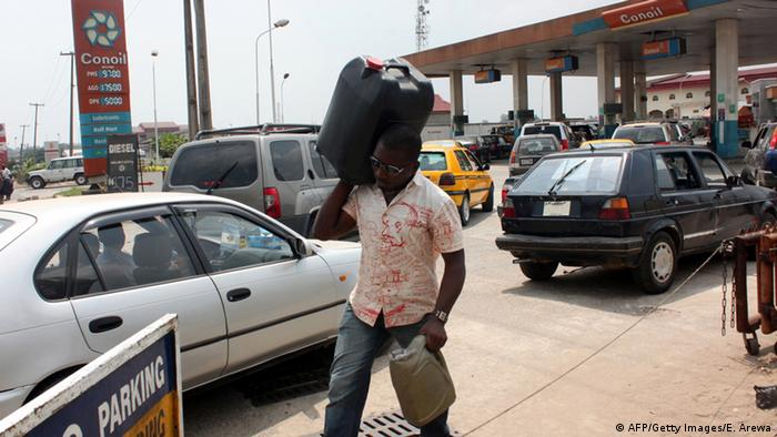 Gas station in Lagos (Photo credit should read EMMANUEL AREWA/AFP/Getty Images)