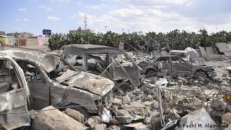 Bildergalerie Sanaa nach den saudischen Luftangriffen