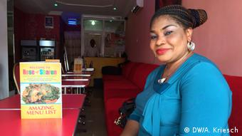 Restaurant owner Rosemary Lokosun at her place of work