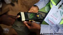 Nigeria Wahlen Scanner Daumenabdruck