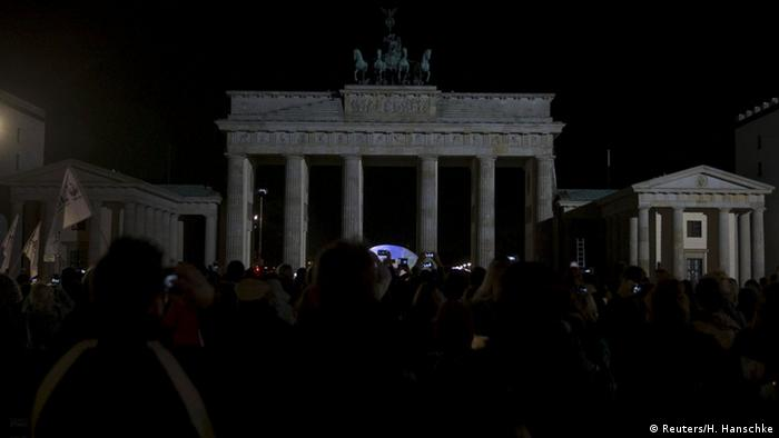 Berlin Brandenburg Gate Earth Hour 2015
